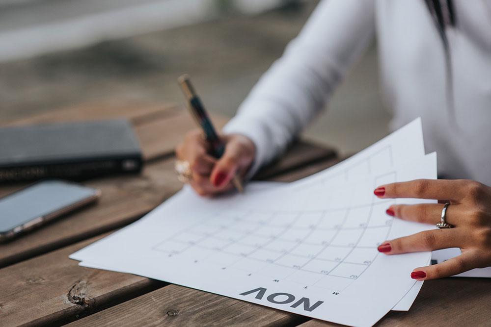 Establecer fechas para metas